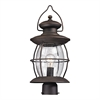 ELK lighting Village Lantern 1 Light Outdoor Post Light In Weathered Charcoal