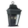ELK lighting Forged Provincial 2 Light Outdoor Sconce In Charcoal