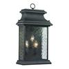 ELK lighting Forged Provincial 3 Light Outdoor Sconce In Charcoal