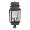 ELK lighting Forged Lancaster 3 Light Outdoor Post Lamp In Charcoal