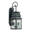 Forged Lancaster 2 Light Outdoor Sconce In Charcoal