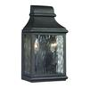 ELK lighting Forged Jefferson 2 Light Outdoor Sconce In Charcoal