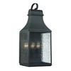 Forged Jefferson 3 Light Outdoor Sconce In Charcoal