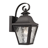 ELK lighting Forged Brookridge 1 Light Outdoor Sconce In Charcoal