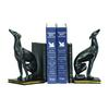 Sterling Pair Of Black Greyhound Bookends