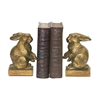 Sterling Pair Of Baby Rabbit Bookends