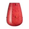Lacrima 1 Light Wall Sconce In Satin Nickel And Fire Red Glass