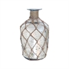 Cassieo Bottle Vase 10.875-Inch, Antique Silver With Jute Wrap