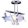 Novelty 1 Light Prop Plane Semi Flush In Satin Nickel