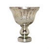 Pomeroy Cassia Pedestal Bowl - Small, Antique Silver