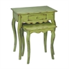 Sterling Set of 2 Verde Stacking Tables
