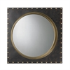 Sterling Metal Rivet Porthole Mirror