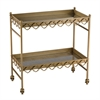 Rectangular Quatrefoil Bar Cart