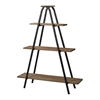 "Wooden ""A"" Line Shelves With Metal Frame"