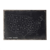 Sterling Chalk Outline Map Of USA On Black Canvas
