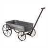 Sterling Metal Cart Planter With Handle