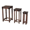 Sterling Set Of 3 Distressed Finish Stacking Tables