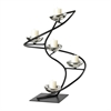 Sterling Iron Spiral Candle Holder In Black / Chrome