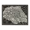 City Map-Laser Cut Map Of Paris Circa 1790