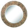 Large Round Wood Mirror
