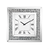 Sterling Kings Road Wall Clock Crushed Crystals,Clear Mirror