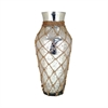 Cassieo Vase, Antique Silver With Jute