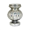 Carmela Pillar Holder 11.4-Inch, Antique Silver
