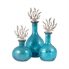 Pomeroy Reef Set of 3 Decanters, Silver,Antique Turquoise Artifact