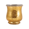 Pomeroy Sterlyn 3.8-Inch Large Votive In Antique Gold Artifact, Antique Gold Artifact