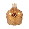 Galloway Bottle With Jute Medium, Antique Amber Artifact