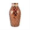 Pomeroy Galloway Bottle With Jute Large, Antique Caramel Artifact
