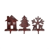 Pomeroy Stocking Holders Assorted Pack of 3, Montana Rustic