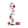 Festival S12 Ornaments & Stand, Rustic,Antique Red,Silver,Champagne