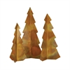 Rustique S3 Christmas Trees, Hammered Burned Copper