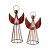 Pomeroy Holiday Set of 2 Angel Lighting, Montana Rustic