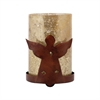 Pomeroy Angel Votive, Montana Rustic,Antique Wheat Arti