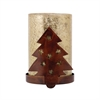 Pomeroy Tree Votive, Montana Rustic,Antique Wheat Arti