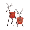 Reindeer Set of 2 Large Lighting, Rustic,Red Tierra