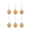 Beaded Ornaments Set - Gold Heart