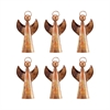 Choir Angel Set of 6 Ornaments