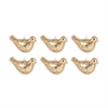 Bird Set of 6 Ornaments In Gold