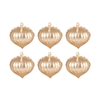 Pointed Ball Set of 6 Ornaments In Gold