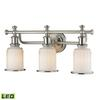ELK lighting Acadia 3 Light LED Vanity In Brushed Nickel