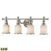ELK lighting Acadia 4 Light LED Vanity In Brushed Nickel