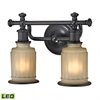 ELK lighting Acadia 2 Light LED Vanity In Oil Rubbed Bronze
