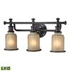 ELK lighting Acadia 3 Light LED Vanity In Oil Rubbed Bronze