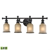 ELK lighting Acadia 4 Light LED Vanity In Oil Rubbed Bronze