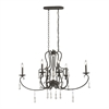 Porto Cristo 6 Light Chandelier In Palermo Rust With Birch Accents