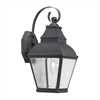 Bristol 1 Light Outdoor Wall Lantern In Charcoal And Beveled Glass