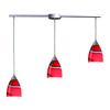 Pierra 3 Light Pendant In Satin Nickel And Candy Glass